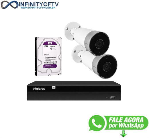 Kit 2 Câmeras Externas Wi-Fi Mibo Full HD 1080p IM5 Intelbras + 1 NVR Stand Alone 04 Canais 6MP NVD 1304 Intelbras + 1 HD Interno WD Purple 1TB Surveillance SATA III - Infinitycftv
