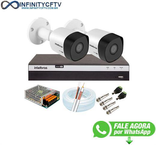Kit 2 Câmeras de Segurança Full HD 1080p VHD 3230 B G6 + DVR Intelbras MHDX 3104 Full HD de 4 Canais - InfinityCftv