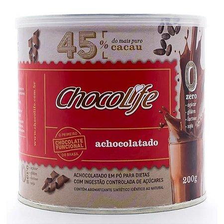 ACHOCOLATADO ZERO AÇÚCAR EM PÓ CHOCOLIFE 45% CACAU 200G