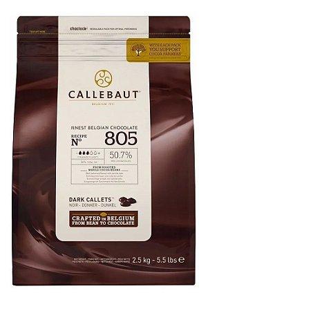 Chocolate Belga Callets Amargo 805 (50,7% Cacau)-gotas 2,5kg