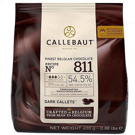 Chocolate Belga Amargo 811 (54,5% Cacau) - Gotas 400 Gr