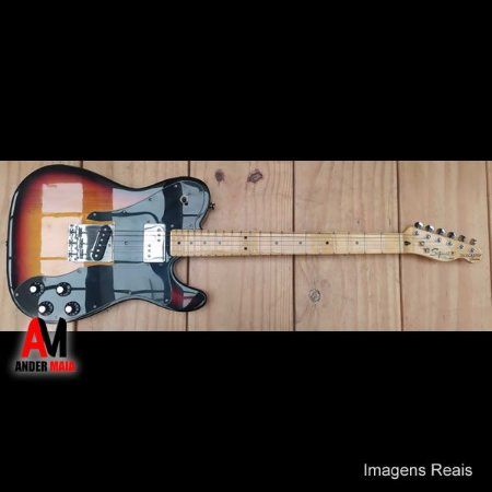 GUITARRA FENDER SQUIER TELECASTER CUSTOM SUNBURST SEMINOVA