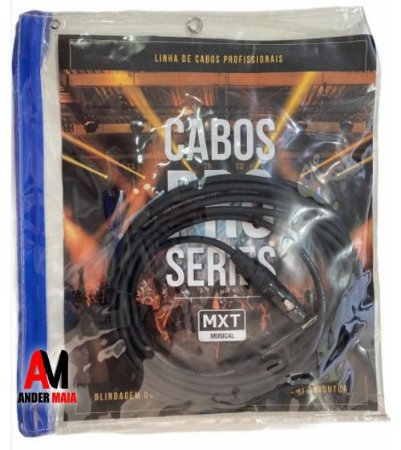 CABO DE MICROFONE PRO-SERIES, P10 MACHO MONO+XLR, OD:6MM, 5M