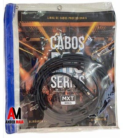 CABO DE MICROFONE PRO-SERIES, P10 MACHO MONO+XLR, OD:6MM, 10M
