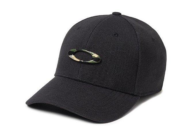 BONÉ OAKLEY ABA CURVA TINCAN CAP BLACK/GRAPHIC CAMO 911545-01Y