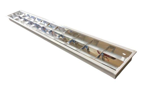 Luminária Comercial 2x18w 1250 mm tubular T8 10 Aletas Alumínio
