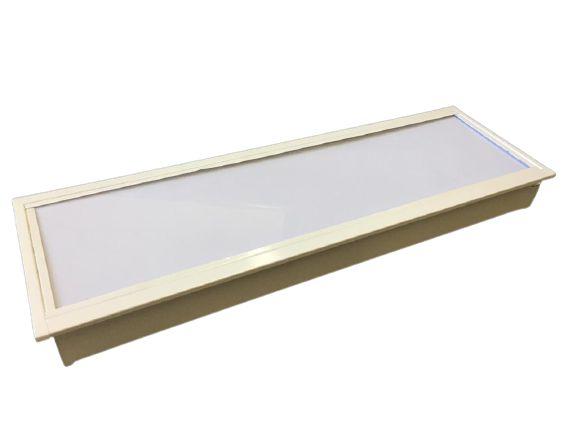 Luminária Comercial 2x9w 625mm T8 com Difusor leitoso - forro drywall