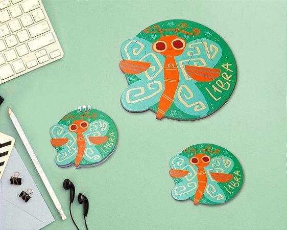 LIBRA - mouse pad + bloco + porta-copos