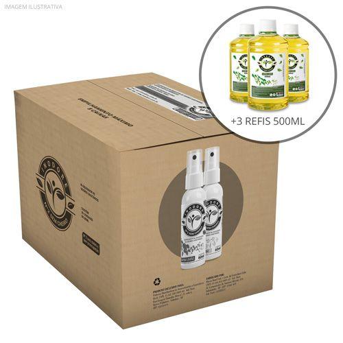 3 Refis Capim-Limão 500ml + Caixa com 35 Unidades Alecrim e Capim-Limão 60ml