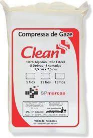 Compressa Gaze Nao Esteril  Clean 500pcs