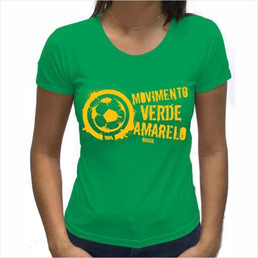 Camiseta Feminina Verde logo grande