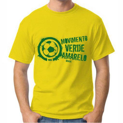 Camiseta Masculina Amarela logo grande