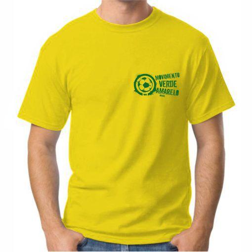 Camiseta Masculina Amarela logo pequeno