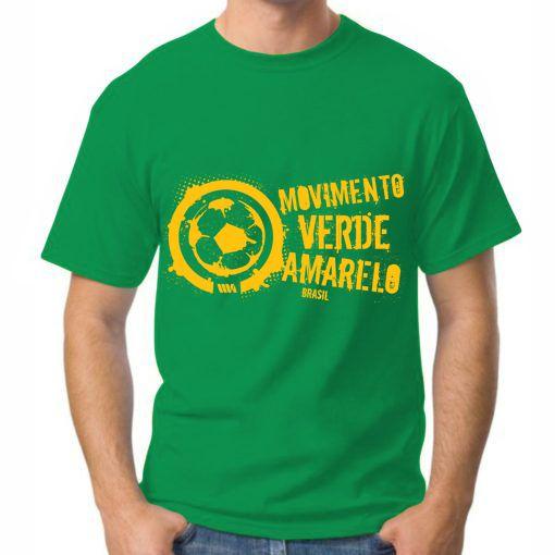 Camiseta Masculina Verde logo grande