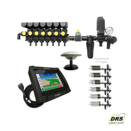 Kit Controlador de Vazão com Sistema de GPS e Corte de Seção com Comando Eletrônico