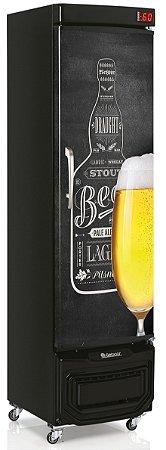 Cervejeira Gelopar GRBA-230E QC Vertical 230L Porta Cega Adesivada 220V