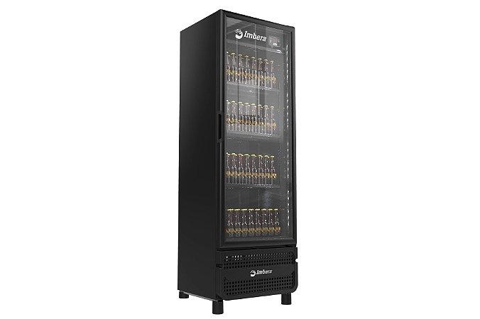 Cervejeira Expositor Imbera CCV315 Vertical 459 Litros Porta de Vidro LED STYLUS Preta 220V