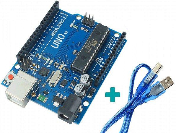 Arduino Uno R3 Atmega328 Com Cabo Usb