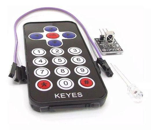 Kit Controle Remoto Ir + Receptor Ir Para Arduino