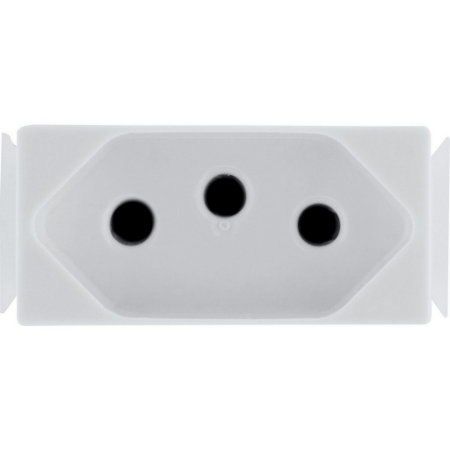 Módulo Tomada 2P+T Aria 10 A 250 V Branco Tramontina