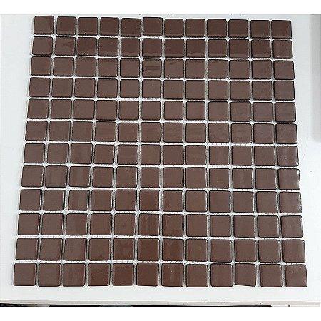 Pastilha Marrom Chocolate 2,5cmx2,5cm Telado 30cmx30cm
