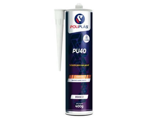 Adesivo Poliuretano PU40 400gr Cinza Poliplas