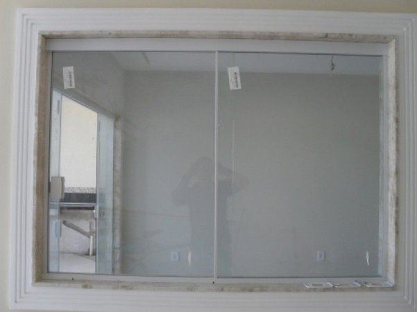 Janela de Vidro de Correr 1,00A X 1,20L 2 Folhas Vidro Incolor