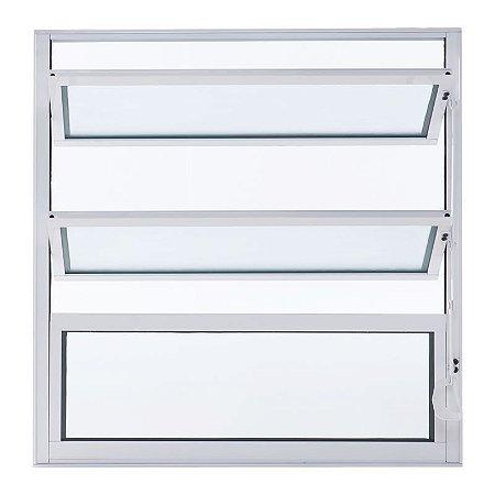 Janela de Alumínio Basculante 40A X 40L Perfil Fino Branco Esal