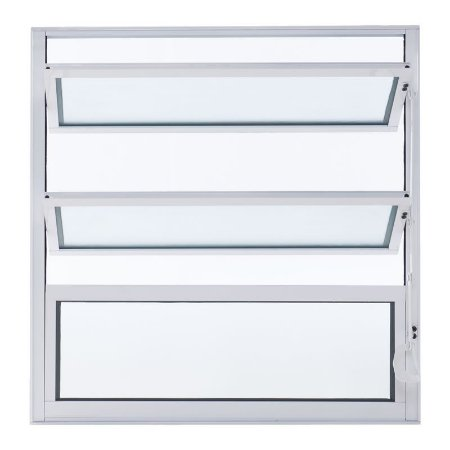 Janela de Alumínio Basculante 40A X 60L Perfil Fino Branco Esal