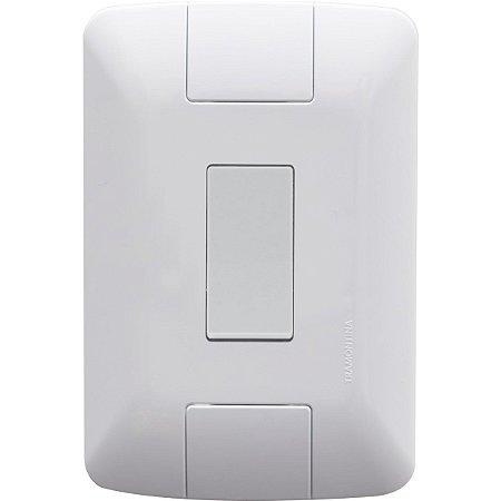 Conjunto 4x2 com 1 Interruptor Simples Aria 6 A 250 V Branco Tramontina