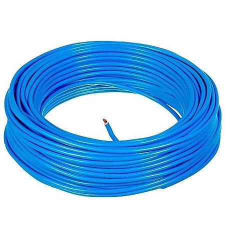 Fio Cabo Flexível 6,0mm 100m Azul Usaflex