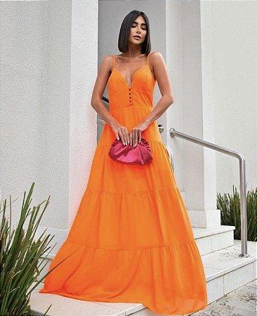 Vestido Patrícia Laranja Neon
