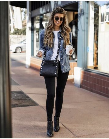 Calça jeans preta lisa cintura alta