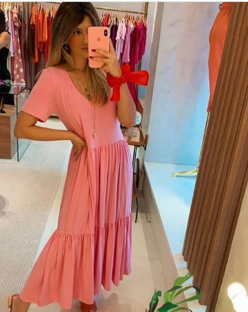 Vestido viscolycra rosa