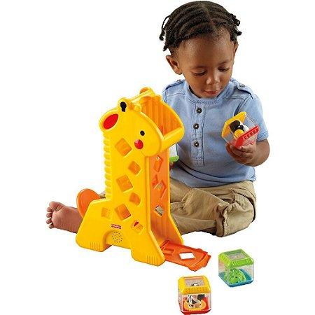 Girafa com blocos Fisher-Price