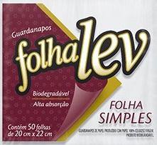 GUARDANAPO FOLHALEV F.SIMPLES 20X22 50UN