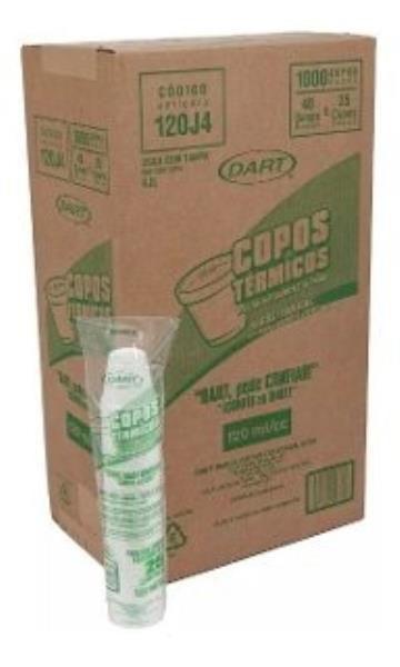 Caixa Copo isopor termico 120ml 40x25 1000un Dart