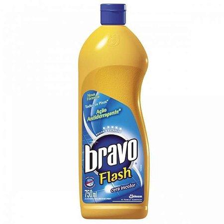 Cera incolor bravo flash antiderrapante 750ml