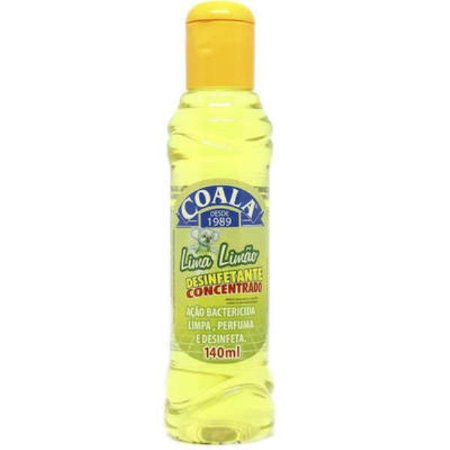 Desinfetante conc Coala Lima limao 140ml