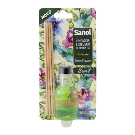 Limpador de superficies sanol 2 em 1 Green flowers 100ml