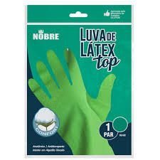 Luva borracha/latex TOP verde M Nobre