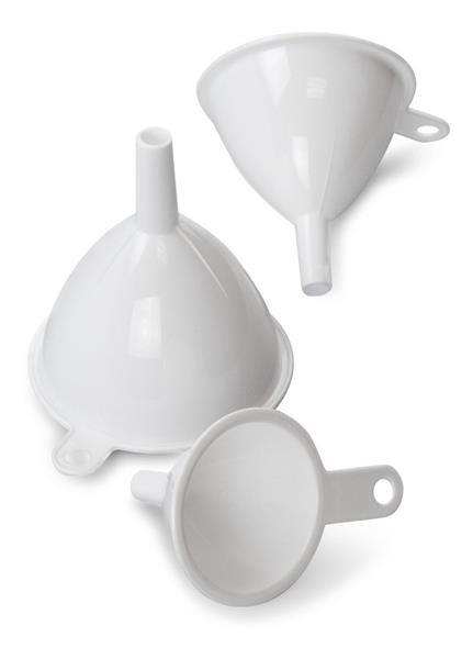 Kit funil de plastico 3 pcs Funnels