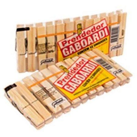 Prendedor de roupa madeira gigante Gaboardi 12un