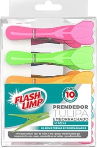 Prendedor tulipa emborrachado 10pc Flashlimp