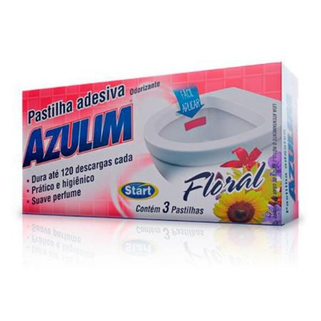 Pastilha Adesiva Azulim FlorL C/3