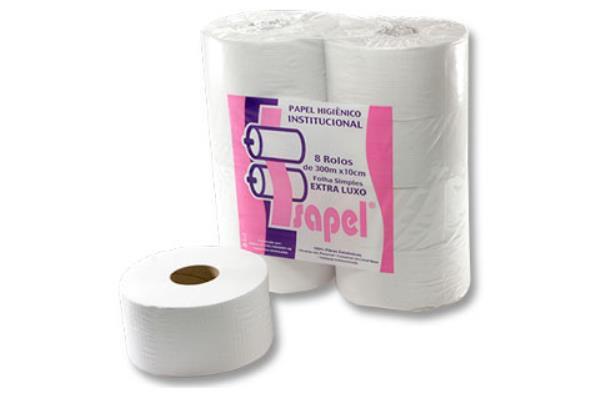 Papel higienico institucional extra luxo 8 x 300m (rolao) - Isapel