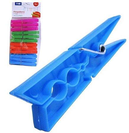 Prendedor 12 pcs plast color FWB