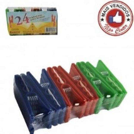 Prendedor 24pcs plast color Keita