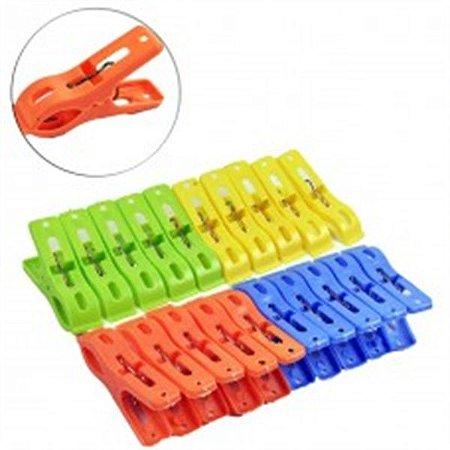 Prendedor colorido 20pcs plast color