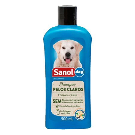 Shampoo pelos claros Sanol dog 500ml